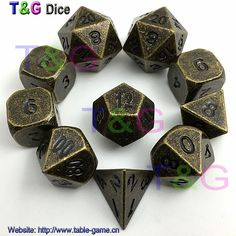 Find More Dice Information about Set of 10 Old Gold Copper Colored Polyhedral Metal Dice 14mm d6, RPG or dnd Dice,High Quality dice paper,China dice mix Suppliers, Cheap d6 from T&G Plastic Products Manufactory on Aliexpress.com