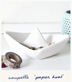 Paper boat Paper Boats, Ceramic Artists, Clay, Ceramics, Nice, Sweet, Handmade, Gifts, Travel
