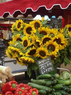 Flower market in Aix en Provence France. I will never forget this beautiful flower market with fresh produce