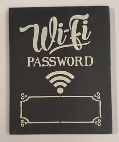 Take a look at this 'Wifi Password' Chalkboard Wall Sign today!