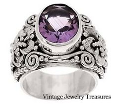 QVC Novica Artisan Crafted Amethyst Sterling Silver Ring 7 New #novica #amethyst