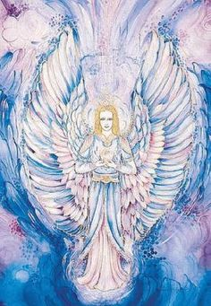 """Archangel Raguel. Name meaning: """"Friend of God""""  The """"Archangel of Justice and Fairness"""", he helps to resolve arguments, assists with cooperation and leads to harmony in groups and families. If asked, he will offer assistance toward discovering balanced, harmonious, peaceful resolutions to disputes and disagreements, both in our personal and professional lives. He also helps us to sort out our inner feelings.  Crystal affinity: Aquamarine ☀"""