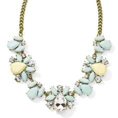 """☀️Summer Sale☀️H.Pick🌟Pastel Dew Drops Necklace Light pastel blue and genuine Crystal create a sense of elegance and sparkle..adjustable:20-24"""" Jewelry Necklaces"""