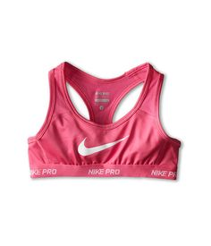 Stay strong with support of this Nike athletic bra.Racerback sport bra  features Swoosh logo