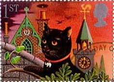 Greetings Booklet Stamps 'Good Luck' 1st Stamp (1991) Black Cat