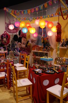 Mickey & Minnie Mouse Party Themes! (D23 2011)