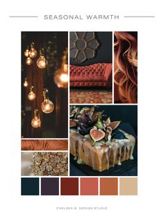 Planning a fall wedding but are not interested in Halloween or Pumpkin influences? Use this color palette and lots of metallics to get a warm and rich, caramelly glam wedding!
