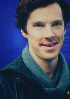 Ben. In a scarf. Of course. #benedictcumberbatch