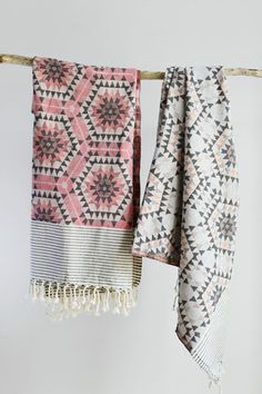 This gorgeous cotton Honeycomb Throw is a perfect size for the sofa, end of your bed or even taking to the beach. Ethically produced fro Decorator's Notebook in Tunisia using traditional jacquard weaving techniques.