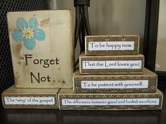 Yearning to Create: Forget-Me-Not Craft
