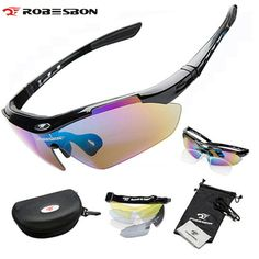 9a1653f5b6 ROBESBON Polarized Fun Sports Cycle Sunglasses Ciclismo 5 Lenses Eyewear  Professional Cycling Eeyewear Bicycle Bike Glasses