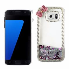 Reiko Samsung Galaxy S7 3D Diamond Protector Cover Butterfly Silve