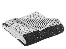 Iso 180 x 130cm Printed Bedspread, Mono
