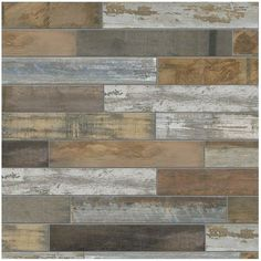 Home Depot - MARAZZI Montagna Wood Vintage Chic 6 in. x 24 in. Porcelain Floor and Wall Tile sq. / at The Home Depot Bathroom Floor Tiles, Wood Bathroom, Wall Tiles, Kitchen Tiles, Kitchen Flooring, Guys Bathroom, Lowes Bathroom, Bathroom Images, Cement Tiles