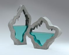 Broken Liquid: New Bodies of Water Sculpted from Layered Glass by Ben Youngb