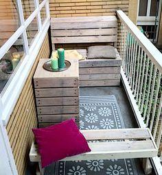 Balcony furniture.