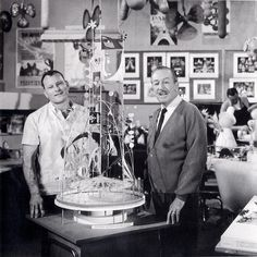 "Here are a selection of pictures of Walt at Walt Disney Imagineering workshop - at that time called ""WED Enterprises"". You will reco. Disney And More, Disney Love, Disney Magic, Disney Stuff, Disney Humor, Disney Parks, Walt Disney World, Walt Disney Imagineering, Disney Icons"