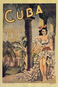 Cuba - Advertising Poster. Cuba Travel Poster
