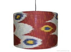 40 cm extravagant orient Uzbek Ikat lampshade hanging lamp lampshade Red-L - Buy at Kabul Art Gallery