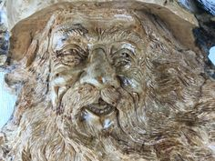 Wood Spirit wood carving Tree Spirit Wooden by TreeWizWoodCarvings