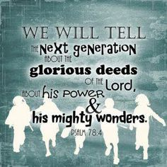 it's up to us to point this generation to Christ