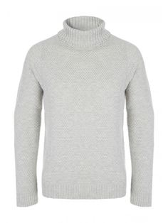 Make a fashion forward addition to your collection of everyday wardrobe essentials with this men's roll neck long sleeve knit With a ribbed hem, cuffs and ne...