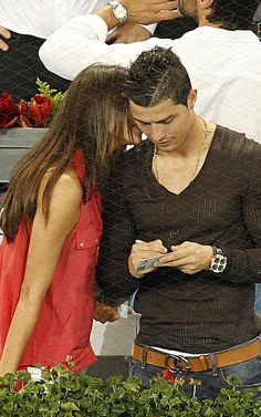 Cristiano Ronaldo attended the 2012 Madrid Masters Quarterfinals Tennis match in Spain with his girlfriend model Irina Shayk.