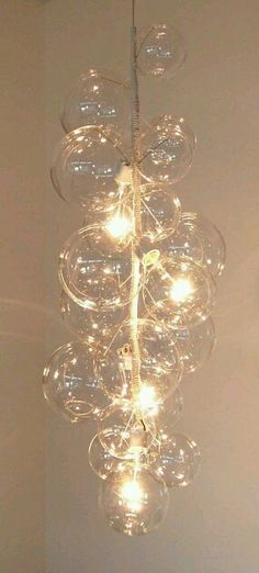 Everybody Happy with Glass Bubble Chandelier : Bubble Glass Chandelier By Solaria. Bubble glass chandelier by solaria. Chandelier Bulle, Bubble Chandelier, Glass Chandelier, Chandelier Lighting, Crystal Chandeliers, Unique Chandelier, String Lighting, Pendant Lamps, Pendant Lights