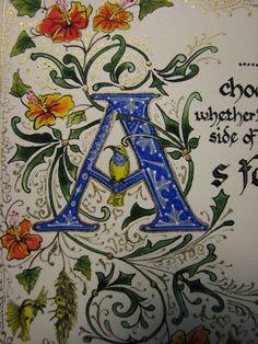 Iluminada la caligrafía a la orden de la Comisión por angelworx