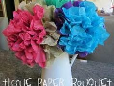 Tissue Paper Bouquet for Mother's Day