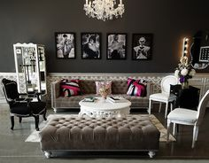 Lashfully waiting area...love the color scheme