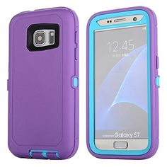 Galaxy S7 Case, Lookly [Armorbox Series] Heavy Duty Rugged Scratch Resistant Shockproof Full Body Protective with Built-in Screen Protector Case for Samsung Galaxy S7 (Purple Blue) * You can get additional details at the image link.