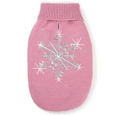 Zack and Zoey Shimmer Night Snowflake Sweater for Dogs, 8' XX-Small, Pink * Unbelievable cat item right here! : Cat Apparel