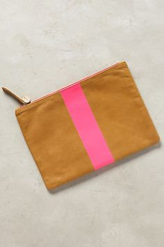 Clare V Paintstripe Pouch #anthropologie