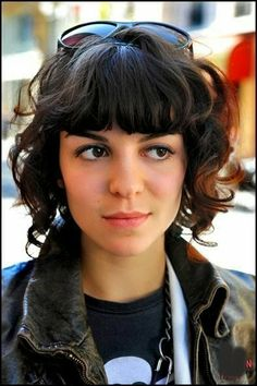Short Haircuts For Curly Hair with Bangs | Haircuts & Hairstyles for short long medium hair