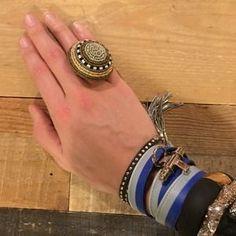 nOir Jewelry Jewelry - Beaded Noir Cocktail Ring