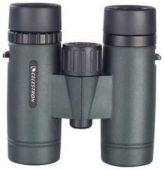 Celestron - TrailSeeker 10 x 32 Waterproof Binoculars - Military Green/Black, 71402