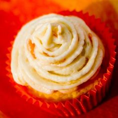 Orange Buttercream Frosting Recipe on Chocolate cupcakes for A & S' birthday party!