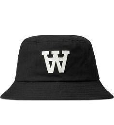 Black AA Logo Bucket Hat