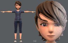 Base ManV02 Clothing V01 | 3D model 3d Model Character, Game Character Design, Character Modeling, 3d Modeling, Character Creation, Zbrush, Cg Artist, 3d Assets, Model Face