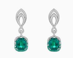 chopard earrings emerald