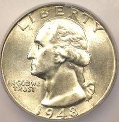 most valuable barber quarters us coins | most valuable coins | 1948 Washington Quarter 25c ICG MS67 RARE Coin ...