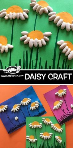 DAISY CRAFT children activities, more than 2000 coloring pages Toddler Crafts, Diy Crafts For Kids, Projects For Kids, Easy Crafts, Art Projects, Kindergarten Art, Preschool Crafts, Diy Niños Manualidades, Spring Art