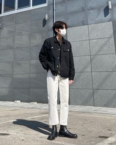 Korean Spring Outfits, Korean Casual Outfits, Stylish Mens Outfits, Cool Outfits, Korean Girl Fashion, Korean Street Fashion, Boy Fashion, Fashion Outfits, Aesthetic Grunge Outfit