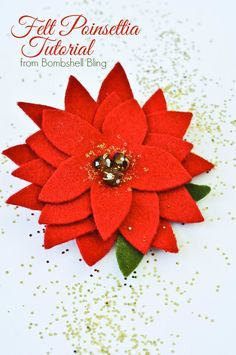 Felt Poinsettia Tutorial- just got a giant felt flower mobile - never seen them before and then this pin pops up....crazy