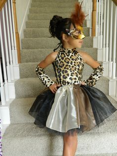 Leopard/Cheetah Print Dress/Costume for Little Girl Size available 4/5. $80.00, via Etsy.