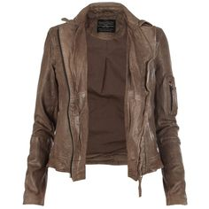 Marsden Leather Jacket ❤ liked on Polyvore