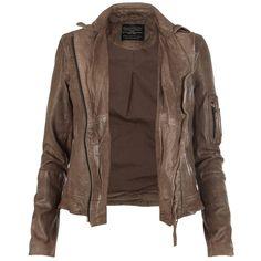 Marsden Leather Jacket ($495) ❤ liked on Polyvore
