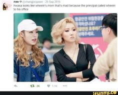 This is funny considering hwasa is the youngest.