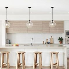34 The Battle Over White Contemporary Kitchen Cabinets and How to Win It - myhomeorganic Best Kitchen Design, Kitchen Room Design, Kitchen Cabinet Colors, Kitchen Colors, Kitchen Layout, Interior Design Kitchen, Kitchen Decor, Kitchen Designs, Kitchen Ideas